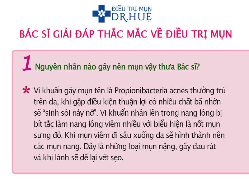 Bác sĩ trả lời thắc mắc về điều trị mụn - Điều trị mụn Dr Huệ - Hình 2