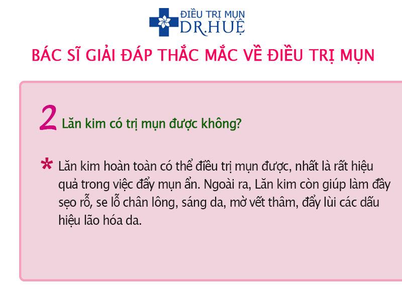 Bác sĩ trả lời thắc mắc về điều trị mụn - Điều trị mụn Dr Huệ - Hình 3