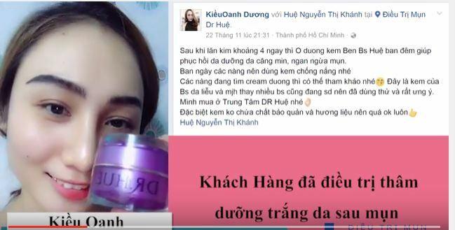 Bạn Kiều Oanh Dương cảm thấy hài lòng về sản phẩm kem dưỡng da của Dr Huệ - Hình 4
