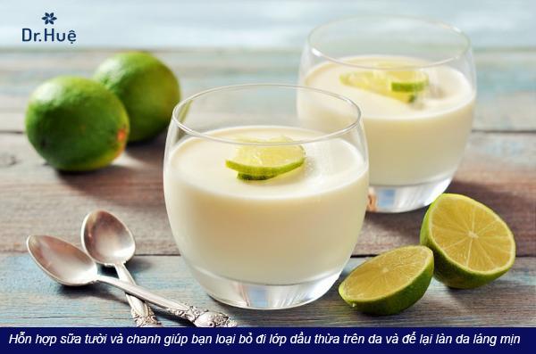 Cách làm trắng da mặt bằng sữa tươi không đường - Điều trị mụn Dr Huệ - Hình 2