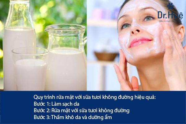 Cách Rửa Mặt Bằng Sữa Tươi Không Đường Trị Mụn Hiệu Quả - Hình 3