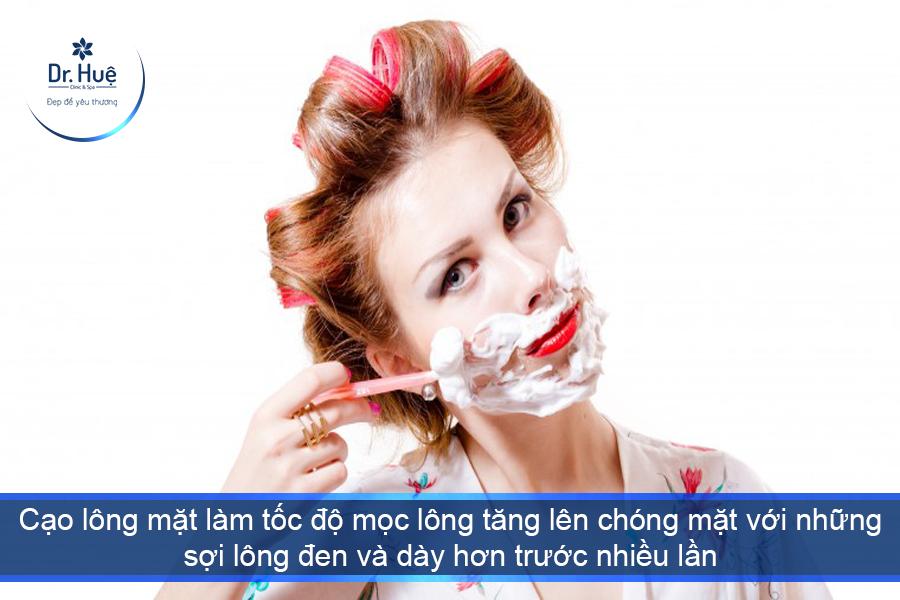 Không nên cạo lông mặt