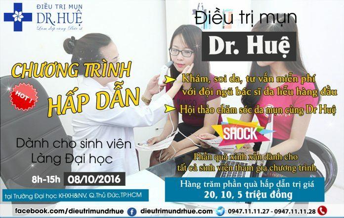 Đăng ký khám soi da miễn phí cùng DR.Huệ - Điều trị mụn Dr Huệ - Hình 1