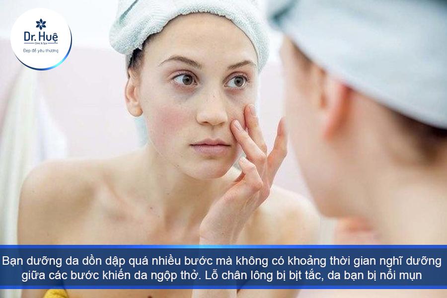 Khoảng cách giữa các bước dưỡng da