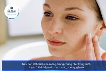 Những dấu hiệu da bị bào mòn mỏng và yếu