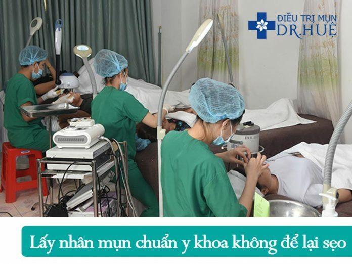 Quy trình điều trị mụn và sẹo rỗ an toàn hiệu quả - Điều trị mụn Dr Huệ - Hình 1