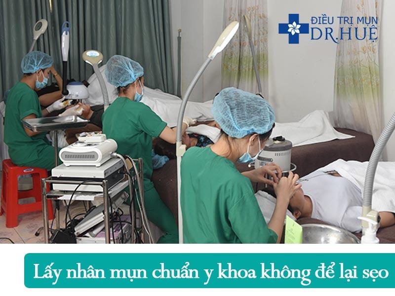 Quy trình điều trị mụn và sẹo rỗ an toàn hiệu quả - Điều trị mụn Dr Huệ - Hình 4
