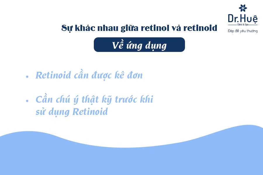 Sự khác nhau giữa retinol và retinoid về ứng dụng