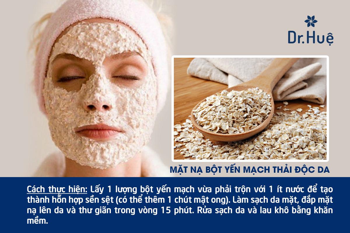 Cách làm mặt nạ thải độc da bằng bột yến mạch