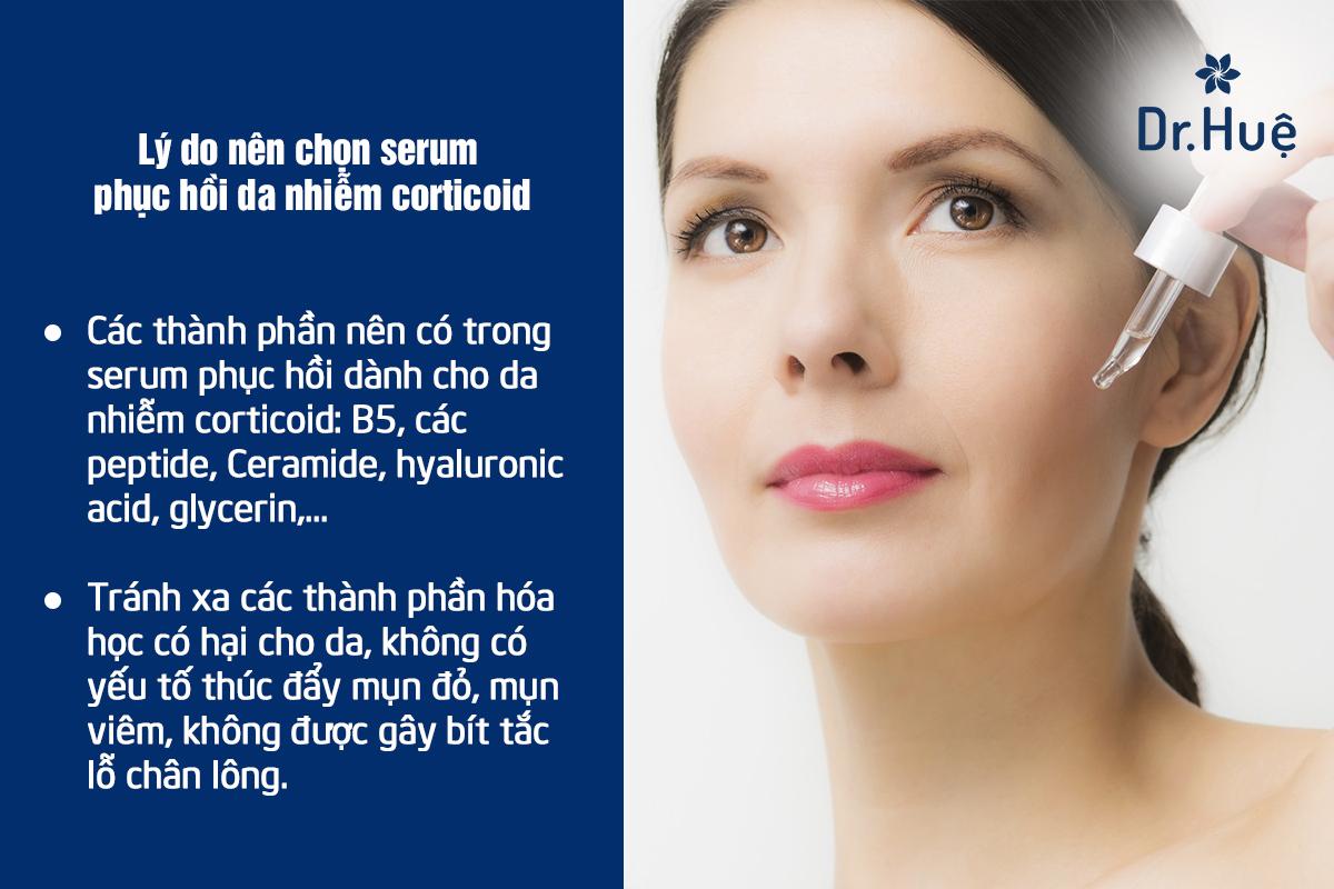 Vì sao nên chọn serum phục hồi da nhiễm corticoid?