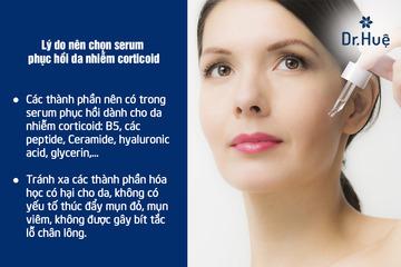 TOP 3 Các loại serum phục hồi dành cho da nhiễm corticoid