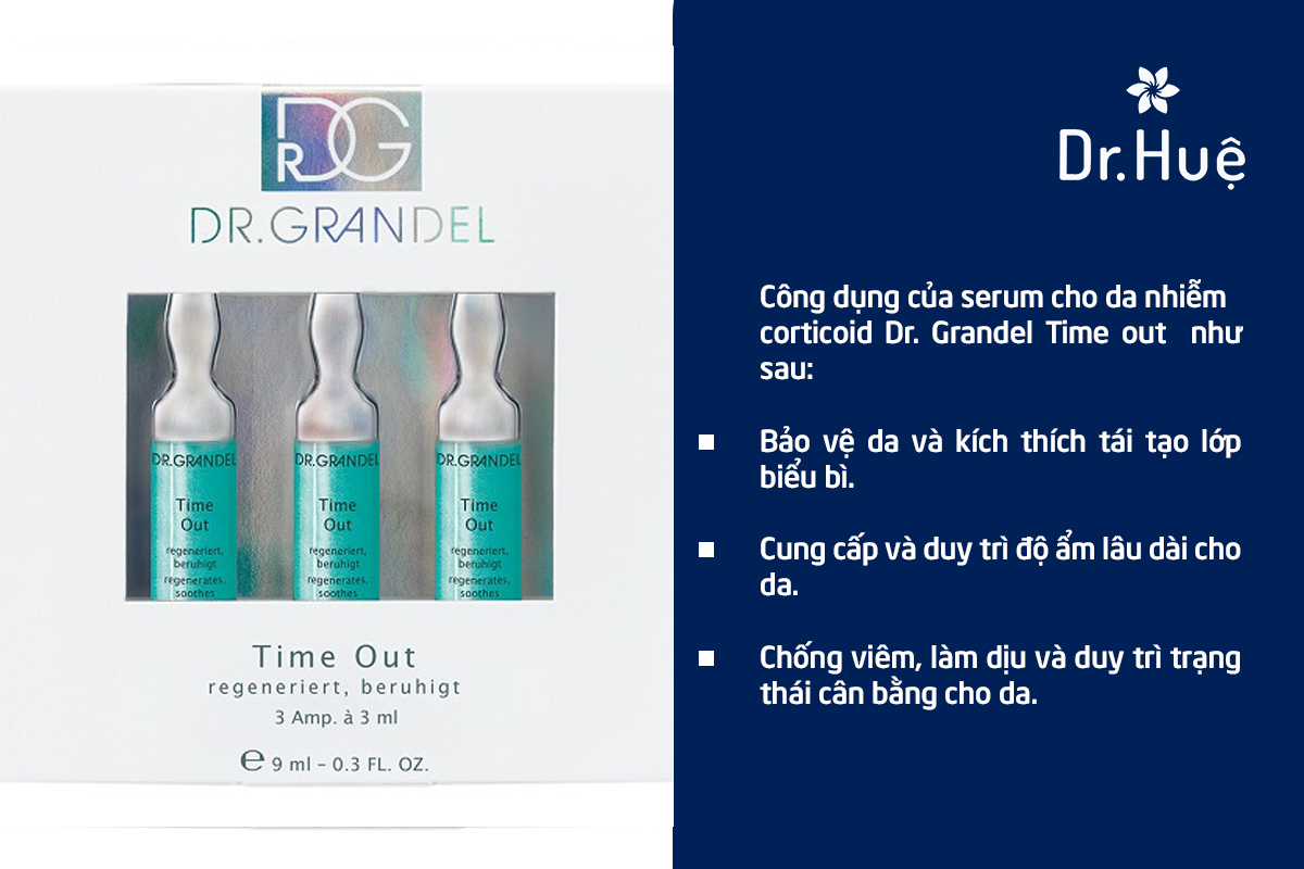 Serum phục hồi cho da nhiễm corticoid Dr. Grandel Time out