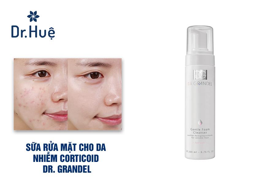 Sữa rửa mặt cho da nhiễm corticoid Dr. Grandel Gentle Foam Cleanser
