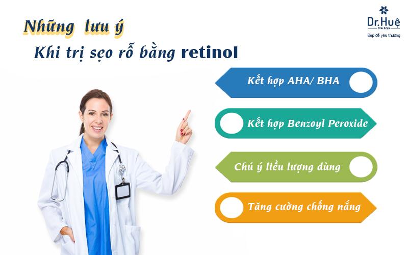 Nhữnglưu ý khi trị sẹo rỗ bằng retinol