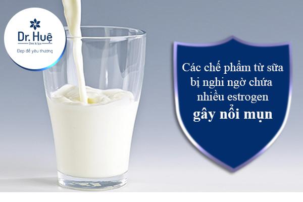 Các chế phẩm từ sữa có thể gây nổi mụn
