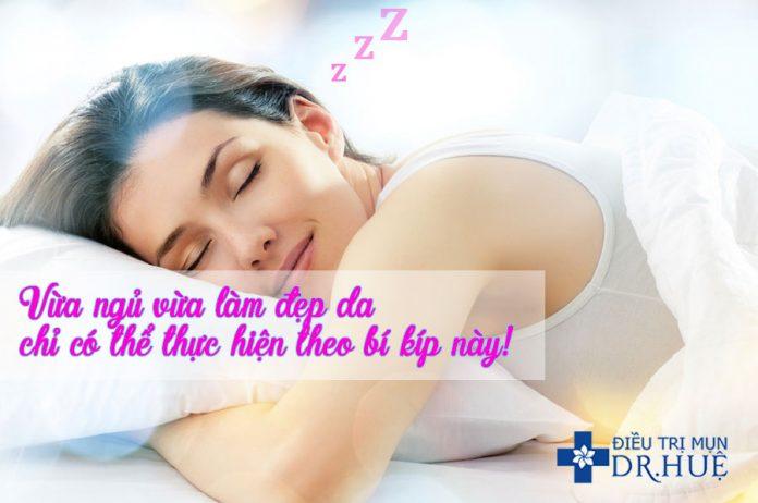 dưỡng da khi ngủ