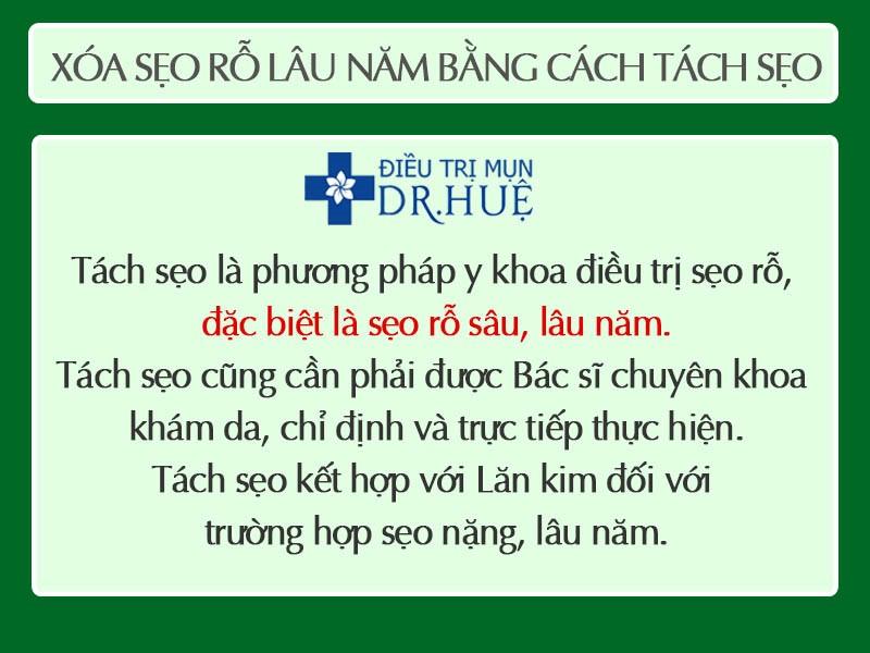 xoa seo bang phuong phap tach seo