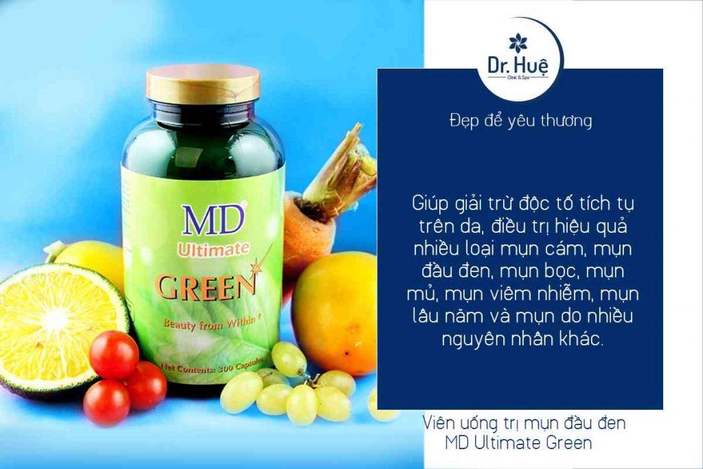 Viên uống trị mụn đầu đen MD Ultimate Green